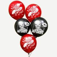 Воздушные шары 'Spider', Человек-паук (набор 5 шт) 12 дюйм