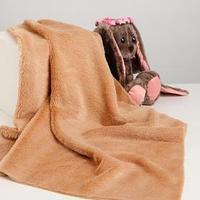 Лоскут для рукоделия, 50х50 см, мех, цвет светло-коричневый (комплект из 2 шт.)