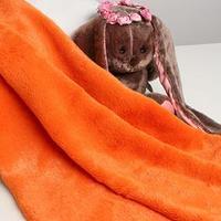 Лоскут для рукоделия, 50х50см, мех, цвет оранжевый