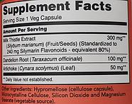 Now Foods, силимарин, экстракт расторопши, 300 мг, 100 растительных капсул, фото 3