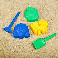 Набор для игры в песке 108 (3 формочки для песка, грабли, совок)
