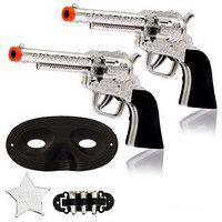 Набор ковбоя 'Шериф', 2 пистолета, маска, значок