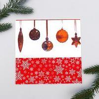 Салфетки бумажные 'Новогодние игрушки', 33х33 см, набор 20 шт.