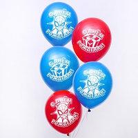 Воздушные шары 'С Днем Рождения', Человек-паук, 5 шт., 12'