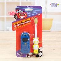 Зубная щётка с игрушкой 'Чемпион по чистке зубов', цвета МИКС