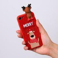 Чехол для телефона iPhone 7,8 'Счастливого рождества', с персонажем, 6,8 х 14,0 см