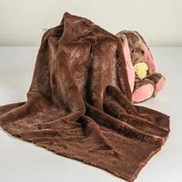 Лоскут для рукоделия, мех, на трикотажной основе, 50х50 см, цвет тёмно-коричневый