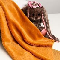 Лоскут для рукоделия, 50х50 см, мех, цвет рыже-коричневый (комплект из 2 шт.)