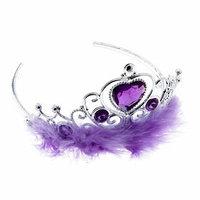 Корона 'Леди', с мехом и стразами, фиолетовая (комплект из 6 шт.)