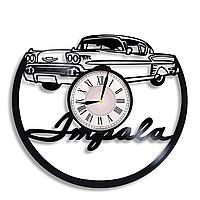 Настенные часы из пластинки, Chevrolet Impala Шевроле Импала, подарок фанатам, любителям, 0307