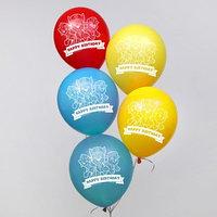 Воздушные шары 'Happy birthday', Щенячий патруль 12 дюйм (набор 5 шт)