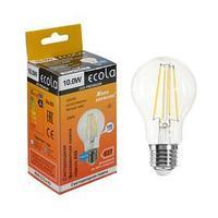 Лампа светодиодная филаментная Ecola classic Premium, А60, 10 Вт, Е27, 4000 К, 360, 220 В