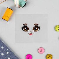 Термонаклейка для декорирования текстильных изделий 'Кукла Маша', 6,5x6,3 см
