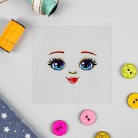 Термонаклейка для декорирования текстильных изделий 'Кукла Аня', 6,5x6,3 см