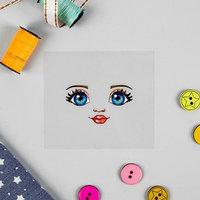 Термонаклейка для декорирования текстильных изделий 'Кукла Настя' 6,5х6,3 см
