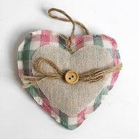 Подвеска 'Сердце', с пуговкой и бантиком, цвета МИКС
