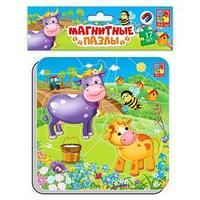 Магнитные пазлы 'Корова и теленок'