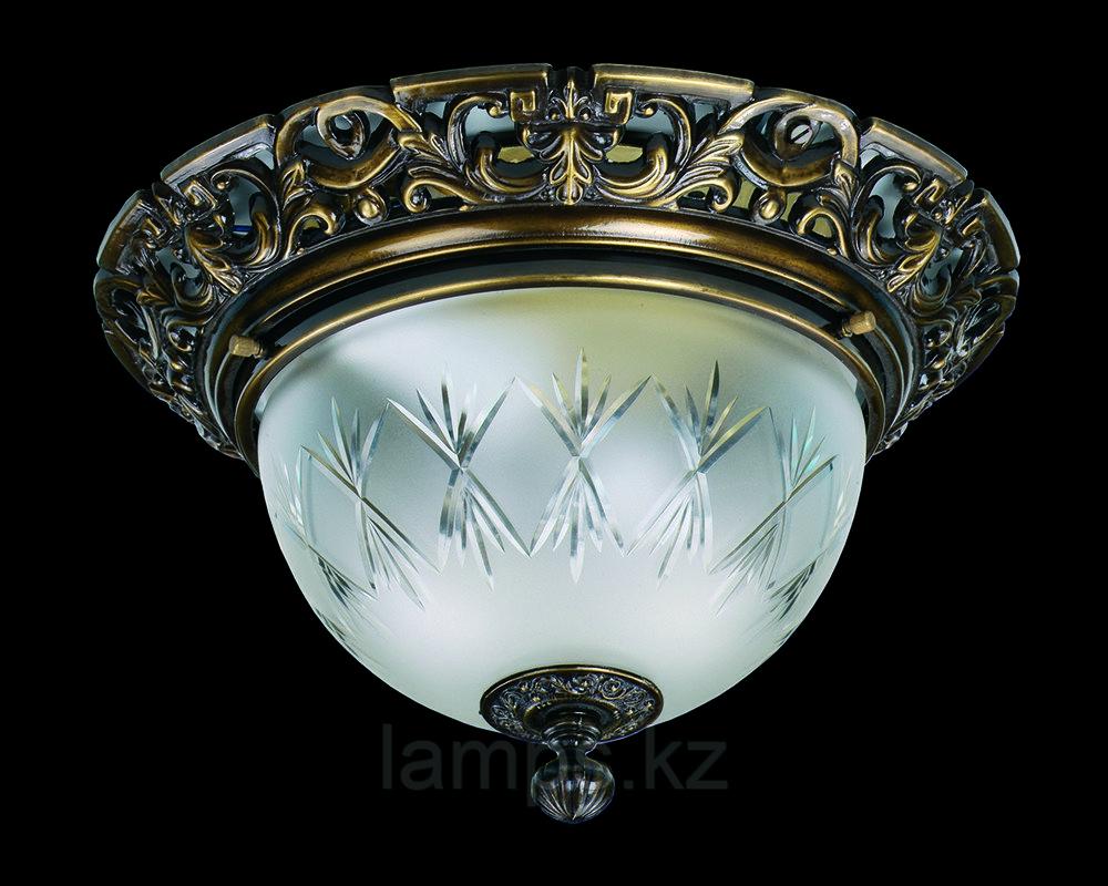 Потолочная люстра LEA I LIGHT PATINA Art Glass