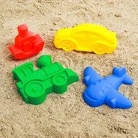 Набор для игры в песке 68, 4 формочки для песка, цвета МИКС