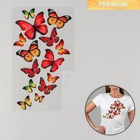 Термотрансфер 'Бабочки', 11 x 19,5 см (комплект из 5 шт.)