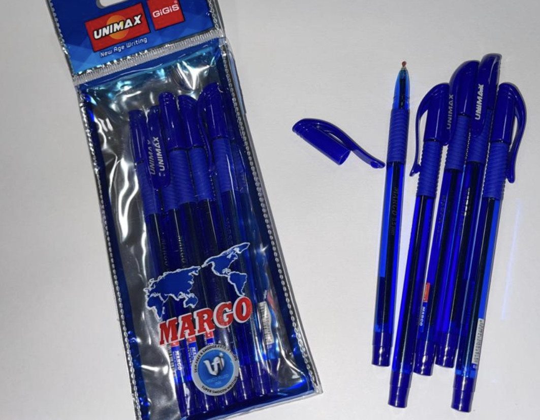 Ручка шариковая UNI-MAX MARGO 0.5мм синяя