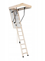 Чердачная лестница OMAN TERMO PS 120x55х280  с поручнями OST, фото 1