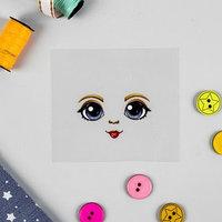 Термонаклейка для декорирования текстильных изделий 'Кукла Варвара', 6,5x6,3 см
