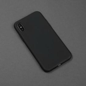 Чехол для телефона Matt case для Apple Iphone X/Xs, матовый, черный - фото 2