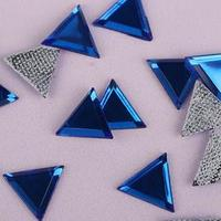 Стразы термоклеевые 'Треугольник', 10 x 10 мм, 50 шт, цвет синий