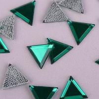 Стразы термоклеевые 'Треугольник', 10 x 10 мм, 50 шт, цвет зелёный