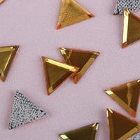 Стразы термоклеевые 'Треугольник', 10 x 10 мм, 50 шт, цвет жёлтый