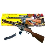 Пластиковый игрушечный автомат стреляет пульками 6 мм PPSH41 (ППШ41). Модель: NO.M696A