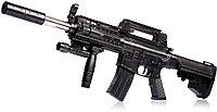 Игрушечный страйкбольный автомат пневматический лазером и фонариком air soft gun NO.1239B