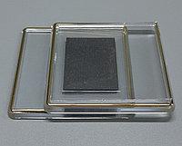 Акриловый магнит с золотой рамкой 64*64 мм