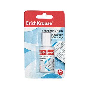 Корректирующая жидкость с кисточкой ErichKrause® Extra, 20г (в блистере по 1 шт.)