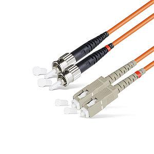 Патч Корд Оптоволоконный SC/UPC-ST/UPC MM OM1 62.5/125 Duplex 3.0мм 1 м