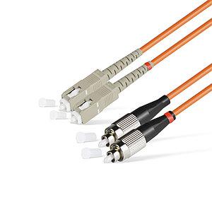 Патч Корд Оптоволоконный SC/UPC-FC/UPC MM OM1 62.5/125 Duplex 3.0мм 1 м