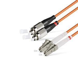 Патч Корд Оптоволоконный FC/UPC-LC/UPC MM OM1 62.5/125 Duplex 3.0мм 1 м