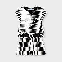 Черно белое Платье Mayoral Размер 3 - 98