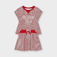Красно белое Платье Mayoral Размер 5 - 110