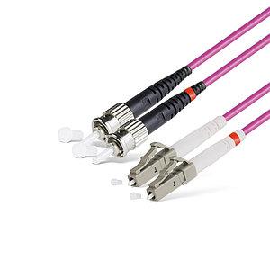 Патч Корд Оптоволоконный LC/UPC-ST/UPC MM OM4 50/125 Duplex 3.0мм 1 м