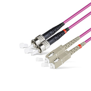 Патч Корд Оптоволоконный SC/UPC-ST/UPC MM OM4 50/125 Duplex 3.0мм 1 м