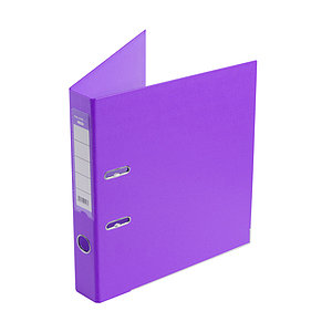 Папка–регистратор Deluxe с арочным механизмом, Office 2-PE1, А4, 50 мм, фиолетовый
