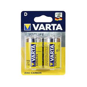 Батарейка VARTA Superlife Mono 1.5V - R20P/D 2 шт. в пленке