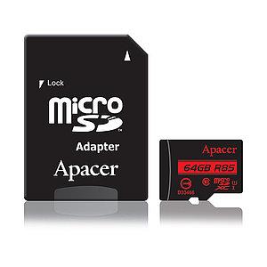 Карта памяти Apacer AP64GMCSX10U5-R 64GB + адаптер