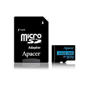 Карта памяти Apacer AP64GMCSX10U7-R 64GB + адаптер