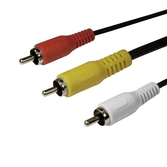 Интерфейсный кабель RCA (тюльпаны аудио-видео-звук) SHIP SH8053-1.5P Пол. пакет