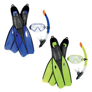 Набор для плавания Bestway 25022 в упаковке: маска, трубка, ласты