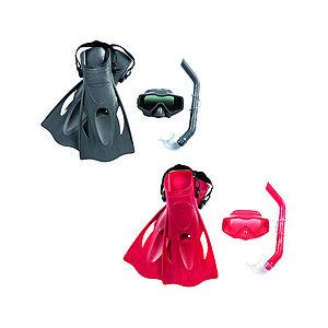 Набор для плавания Bestway 25031 в упаковке: маска, трубка, ласты