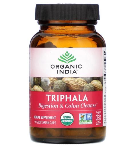 Organic India, трифала, 90 вегетарианских капсул